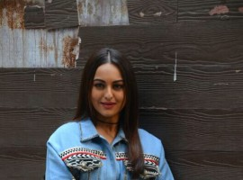 Bollywood actress Sonakshi Sinha promotes Noor film at T Series office in Mumbai on April 10, 2017.