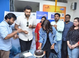 South Indian actor Varun Tej, Hebbah Patel promote Mister movie at Radio City in Hyderabad.