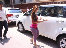 Bollywood actress Malaika Arora Khan and Amrita Arora spotted after workout session.
