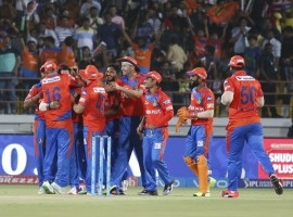A hat-trick from debutant all-rounder Andrew Tye and sensible top-order batting helped Gujarat Lions (GL) outclass Rising Pune Supergiant (RPS) by seven wickets in an Indian Premier League (IPL) 2017 match at the Saurashtra Cricket Association Stadium here on Friday. The 30-year-old Tye bagged five wickets giving away 17 runs, the first in this edition of the IPL, including a hat-trick in the final over of Pune's innings, before the batsmen put on a collective show to chase down the 172 target, with two overs to spare.