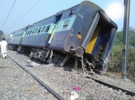 At least two passengers were injured when eight coaches of the Rajya Rani Express derailed near Rampur in Uttar Pradesh on Saturday morning, officials said. According to a senior railway official, the train bound to Lucknow from Meerut derailed around 8.15 a.m. between Mundapandey and Rampur near a bridge over the Kosi river. The injured persons were rushed to a nearby hospital.