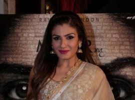 Bollywood actress Raveena Tandon spotted during the press conference of film