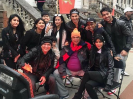 "The Judwaa 2 team recently flew to London for the shoot. The makers are currently shooting the iconic track from 1997 Salman Khan- Karisma Kapoor- starrer, Oonchi Hai Building"" at the London University. Varun Dhawan and Taapsee Pannu will be seen performing to this track. The song is being recreated by none other than Anu Malik and choreographed by Bosco."