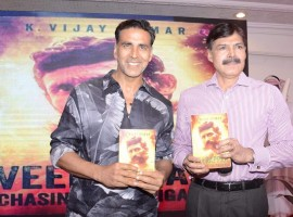 Actor Akshay Kumar, says he was honoured to launch a book written by IPS officer K. Vijay Kumar on executed bandit Veerappan. Akshay on Wednesday took to Twitter to share a photograph of himself along with Vijay Kumar.