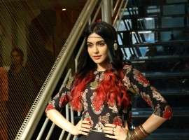 Bollywood actress Adah Sharma spotted during the launch of Craftsvilla's new brand Anuswara, in Mumbai on April 19, 2017.