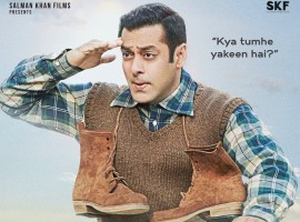 Bollywood superstar Salman Khan on Wednesday released the first poster of his upcoming historical war drama film