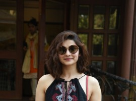 Bollywood actress Prachi Desai spotted at Empire studios on April 19, 2017.