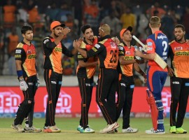 Sunrisers Hyderabad (SRH) dominated with both bat and ball to beat Delhi Daredevils by 15 runs in an Indian Premier League (IPL) match at the Rajiv Gandhi International Stadium here on Wednesday. Electing to bat first on winning the toss, SRH posted a challenging total of 191/4 in their allotted 20 overs with quickfire half-centuries from Kane Williamson and Shikhar Dhawan. Williamson scored 89 runs off 51 balls with six boundaries and five sixes while Dhawan posted 50 runs, studding his 50-ball stint with seven boundaries and a six. In reply, Delhi could only manage 176/5. Shreyas Iyer was their highest scorer, remaining unbeaten on 50 runs which came off 31 balls with five hits to the fence and two sixes. Mohammed Siraj was the most successful among the SRH bowlers with figures of 2/39.