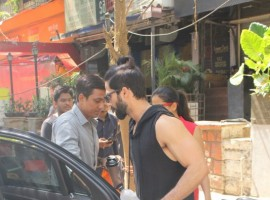 Bollywood actor Shahid Kapoor and Mira Rajpoot spotted at Kitchen Garden in Bandra for lunch.