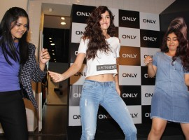Bollywood actress Disha Patani spotted during the launch of #OnlyForBieber collection by fashion brand Only in Mumbai on April 20, 2017.