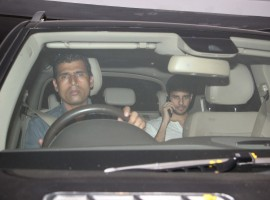 Bollywood actor Sidharth Malhotra snapped outside Karan Johar's house.
