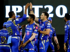 Mumbai Indians rode on destructive half centuries from Englishman Jos Buttler and young Nitish Rana to thrash Kings XI Punjab (KXIP) by eight wickets in an Indian Premier League (IPL) 2017 encounter at the Holkar Cricket Stadium here on Thursday. Buttler's 37-ball 77, laced with seven fours and five huge sixes and Rana's unbeaten 31-ball 54, comprising seven mammoth punches over the rope, outshone South African star Hashim Amla's maiden T20 century for Kings XI, as the visitors overhauled the massive target of 199, with more than four overs to spare. Chasing a mammoth 199, the opening duo of Parthiv Patel (37) and Buttler dealt mostly in boundaries to raise Mumbai's highest first wicket stand of all IPL seasons of 81 runs, as the Punjab bowlers had little to counter the left-right pair. Buttler started the onslaught from the very first over dispatching medium pacer Sandeep Sharma for a six before lofting him for another in his next over as Mumbai raced to 50 in just four overs.