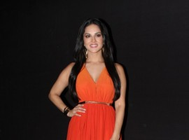 Bollywood actress Sunny Leone during on location photo shoot of IARRA sunglasses in Mumbai on April 21, 2017.
