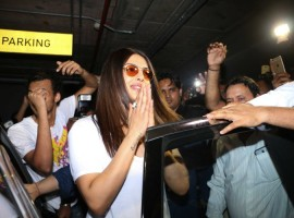 Bollywood actress Priyanka Chopra spotted at Mumbai Airport.