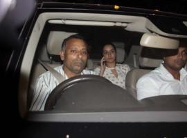 Bollywood actress Shraddha Kapoor snapped outside Raveena Tandon's house.