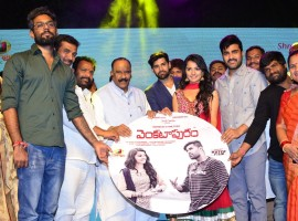 Telugu movie Venkatapuram audio launch event held at Hyderabad. Celebs like Rahul Dayakiran, Mahima Makwana, Vijay Devarakonda, Rahul Ravindran, G Laxma Reddy, Sharwanand, Venu Madikanti, Shreyas Srinivas, Phanikumar, Achu Rajamani, Sridhar Lagadapati, Maruthi graced the event.