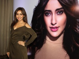 Bollywood actress Neha Sharma spotted during the launch of her mobile app, in Mumbai on April 24, 2017.