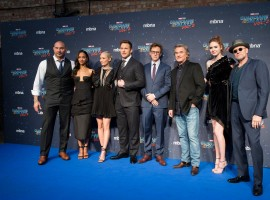 Celebs like Chris Pratt, Zoe Saldana, James Gunn shine at the star-studded Guardians of the Galaxy Vol. 2 London premiere.