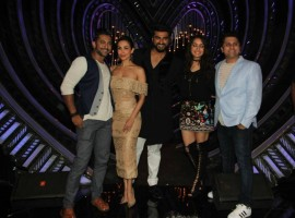 Celebs like Shraddha Kapoor, Arjun Kapoor, Malaika Arora Khan promote Half Girlfriend on the sets of Nach Baliye in Mumbai on April 24, 2017.