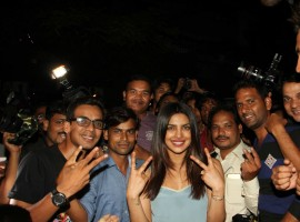 Bollywood actress Priyanka Chopra hosts the success bash of her Marathi movie 'Ventilator' in Mumbai on April 25, 2017.