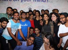 Bollywood actress Priyanka Chopra looks flawless during her Facebook office visit in Mumbai on April 26, 2017.