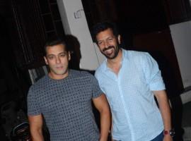 Bollywood actor Salman Khan and Tubelight director Kabir Khan strike a pose for the paps.