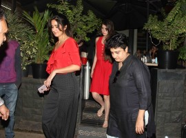 Bollywood actress Katrina Kaif enjoys a dinner outing with family in Bandra.