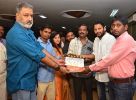 New Faces Mani, Shaanu acting Ammayi Premalo Padithe movie launch event held at Film Chamber, Jubilee Hills, Hyderabad.