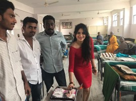 South Indian actress Harshika Poonacha celebrates her birthday with fans.