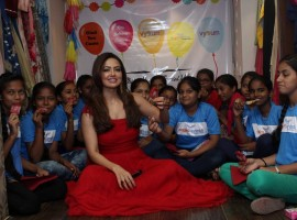 South Indian actress Sana Khan spotted at Angel Xpress foundation Inauguration.