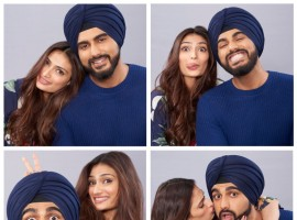 Anees Bazmee's Mubarakan has generated huge anticipation for the movie way before the release of the film. The movie has an interesting ensemble cast. This time again, we have come across news that makes us adore the cast all the more. In these recent pictures from the film, we can comprehend that Arjun and Athiya, who are paired opposite each other for the first time, are all set to deliver crackling chemistry. The comfort and chemistry that they share are evident. They developed a fab working equation with each other during the London schedule and have become great friends. Arjun has a double role in the film and this character Charan is a Sikh and wears a turban, and is paired opposite Athiya, who is seen playing the role of a simple girl, Binkle. While the other role played by Arjun is of Karan, a London boy, paired with Ileana D'Cruz.  Arjun when asked about Athiya shares,