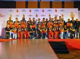 "Tissot, the famous Swiss watch brand, fortifies its ties to the world of cricket by becoming the Official Watch of Royal Challengers Bangalore (RCB) for this season. This was announced in Bangalore today at a team event. Cricket is a popular sport played in 125 countries around the world. With its newest format T20 gaining in popularity, IPL is one of the most followed cricket leagues worldwide and is ranked sixth of all sports leagues. Commenting on the partnership RCB Chairperson, Amrit Thomas said, ""I am extremely happy that RCB has chosen a sporty brand like Tissot which is known for its precision. A quality that is reflected in every player of RCB, so clearly it's a perfect match."""