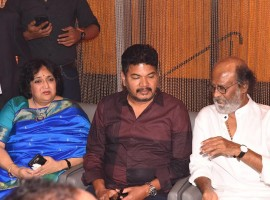 Superstar Rajinikanth and Director Shankar spotted at Westminister Hospital launch in Chennai on May 11, 2017.
