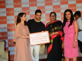 Bollywood actor Kunal Khemu with his wife Soha Ali Khan spotted during the press conference of Bio Oil in Mumbai on May 12, 2017.