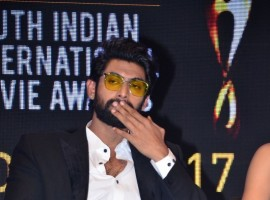 South Indian actor Rana Daggubati spotted at SIIMA Short Film Awards 2017.