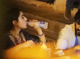Saif's daughter Sara Ali Khan clicked with Harshvardhan Kapoor on dinner date.