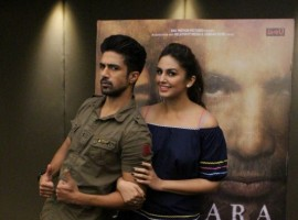 Bollywood Actor Saqib Saleem and actress Huma Qureshi during an interview for film