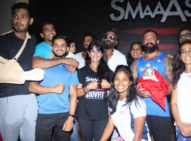 Bollywood actor Suniel Shetty during the launch of Smaaash Shivfit gymnasium in Mumbai on May 17, 2017.