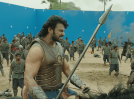 Baahubali 2 VFX works: Before and after pictures.