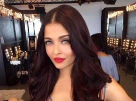 Bollywood actress Aishwarya Rai Bachchan's first look at 70th annual Cannes Film Festival.