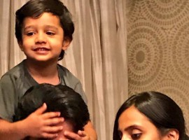 Actor Jr. NTR, who turned 34 on Saturday, welcomed his birthday with his wife Lakshmi Pranathi and son Abhay.