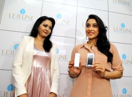 South Indian actress Regina Cassandra launches Enhancing Eyes New Division by Lejeune Skin Clinic and Hair Transplant Centre at Banjara Hills in Hyderabad.