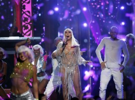 Cher performs