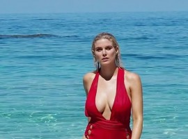 Hollywood actress Ashley James posts racy photos on Instagram.