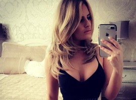 Television personality Danielle Armstrong loves bikini selfie.