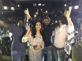 Telugu movie Kesava success tour event held at Vizag, AP. Celebs like Nikhil Siddharth, Ritu Varma, Sudheer Varma and others graced the event.