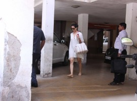 Bollywood actress Kangana Ranaut spotted at Clinic in Bandra on May 26, 2017.