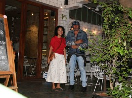Bollywood actor Jackie Shroff and Kiran Rao spotted at Village Cafe in bandra, Mumbai on May 29, 2017.
