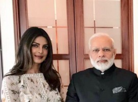Priyanka Chopra on Tuesday met Prime Minister Narendra Modi, in between his packed schedule in Berlin, terming it