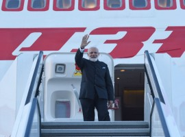 Indian Prime Minister Narendra Modi arrived here on Friday on the final leg of his six-day, four-nation tour of Europe. On Saturday, Modi will hold his first meeting with newly elected French President Emmanuel Macron in Paris. Earlier on Friday, Modi attended for the first time the St. Petersburg International Economic Forum, an annual business and economic event hosted by the Russian President in city of St. Petersburg.